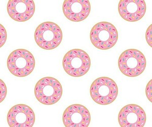 background, donut, and pink image