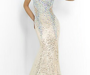dress, sequin, and Prom image