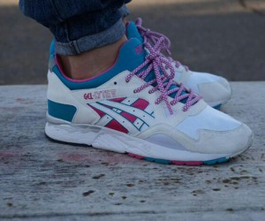 asics, sneakers, and white image