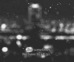 quotes, let go, and snow image