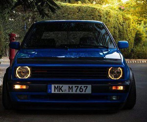 blue, vw, and mk2 image