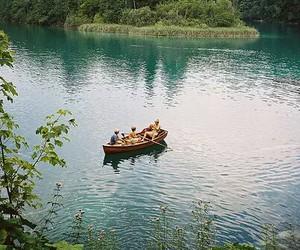 nature, boat, and lake image