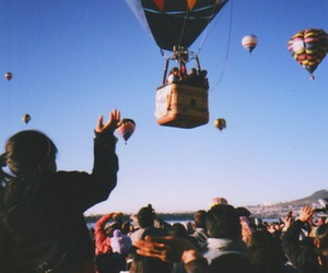 sky, photography, and balloons image