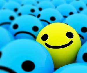 smile, happy, and yellow image