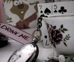 cards, watch, and alice image