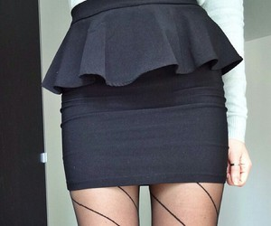 black, chic, and skirt image