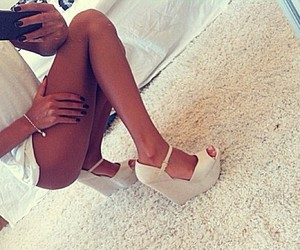 girl, shoes, and heels image