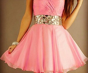 awesome, beautiful, and pink dress image