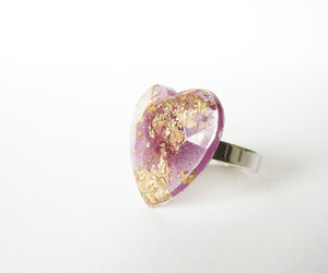 heart, lavander, and lilac image