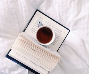 book, reading, and tea image