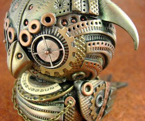 figurine, steampunk, and metals image