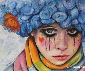 beautiful, clown, and drawing image