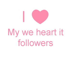 love, followers, and we heart it image