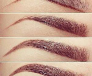 eyebrows, make up, and makeup image
