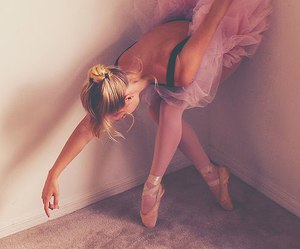 ballet, girl, and plie image