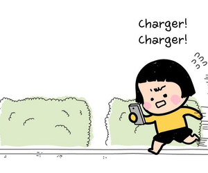charger, mim, and mobile girl image