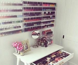 makeup, nails, and make up image