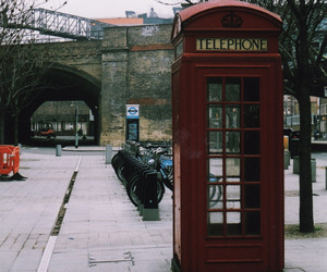 london, vintage, and telephone image