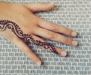 art, henna, and girl image