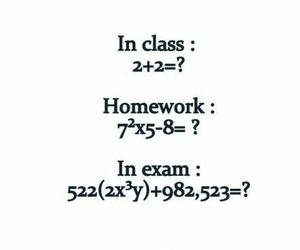 exam, school, and homework image