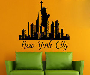city skyline, interior design, and new york city image