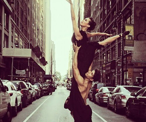 ballet, city, and couple image