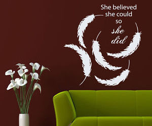 interior design, wall decals, and wall quotes image