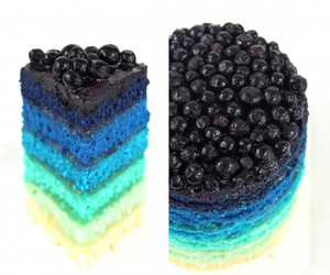 cake, food, and blue image