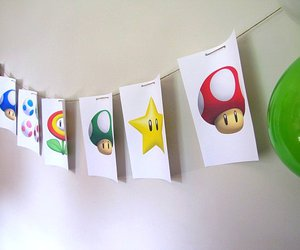 bunting, mario, and party image