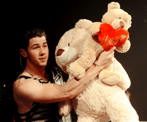 bear, boy, and love image
