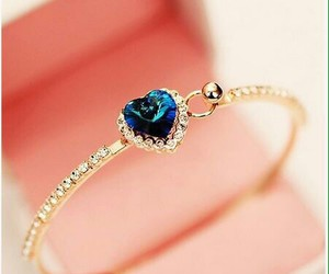 heart, jewelry, and blue image