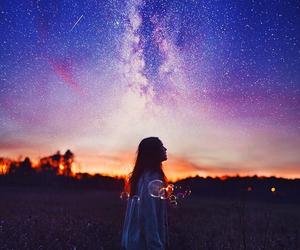 girl and sky image