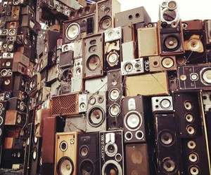 music, old, and speakers image