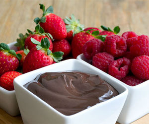 chocolate, fruit, and strawberry image