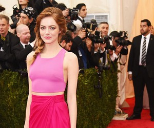 emma stone, pink, and top image