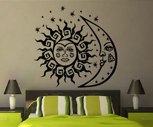 bedroom decor, wall decals, and vinyl stickers image