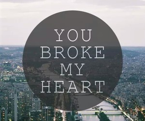 love, heart, and broke image