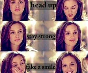 smile, stay strong, and gossip girl image