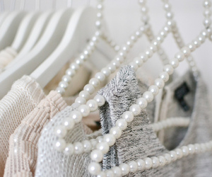 fashion, pearls, and white image