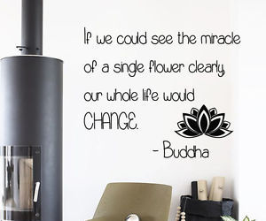 wall decals and buddha quote image