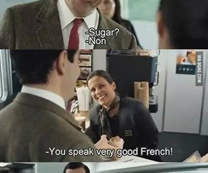 funny, mr bean, and french image
