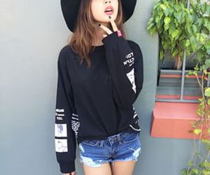 girl, outfit, and hat image