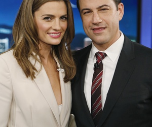 stana katic, castle, and jimmy kimmel image