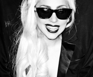beautiful, black and white, and Lady gaga image