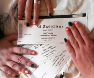 concert, nails, and tickets image