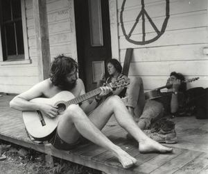 hippy, peace, and music image