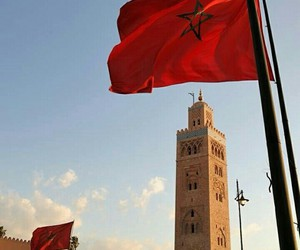 flag, marrakech, and morocco image