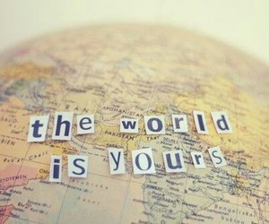 world, travel, and quotes image