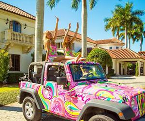 jeep, lilly pulitzer, and preppy image