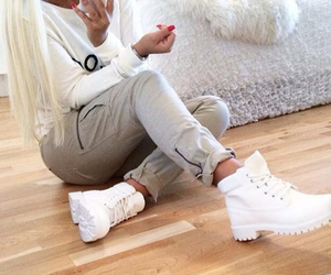 fashion, timberland, and style image